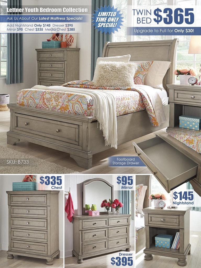 Lettner Youth Bedroom A La Carte_Layout_B733-53-MOOD-V_Update