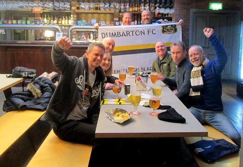 Dumbarton F C Fans in Aberdeen Pub