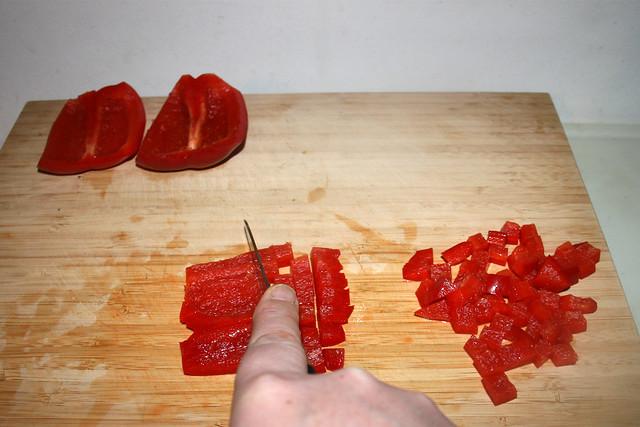15 - Dice bell pepper / Paprika würfeln