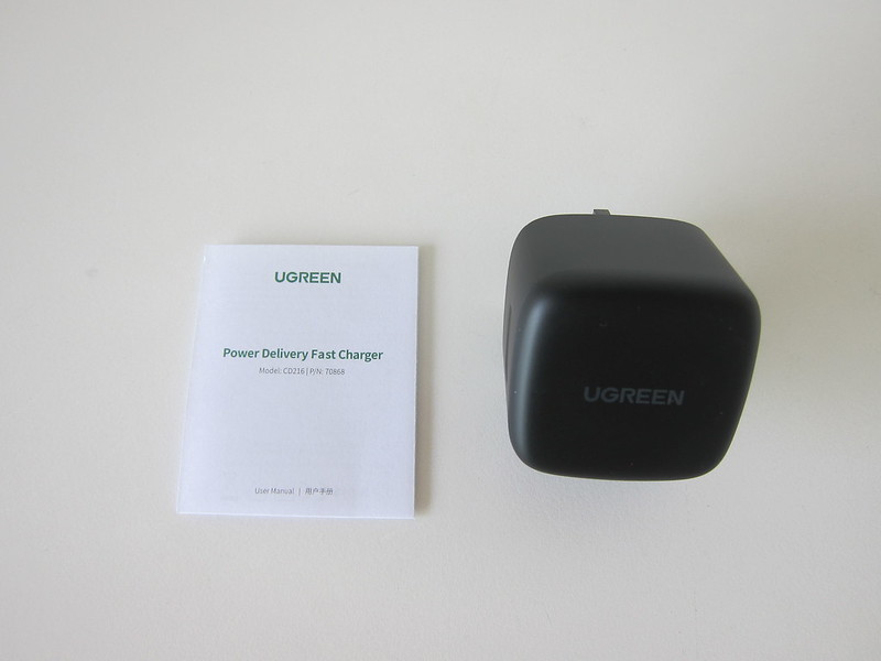 Ugreen 65W GaN Dual USB-C Charger - Box Contents