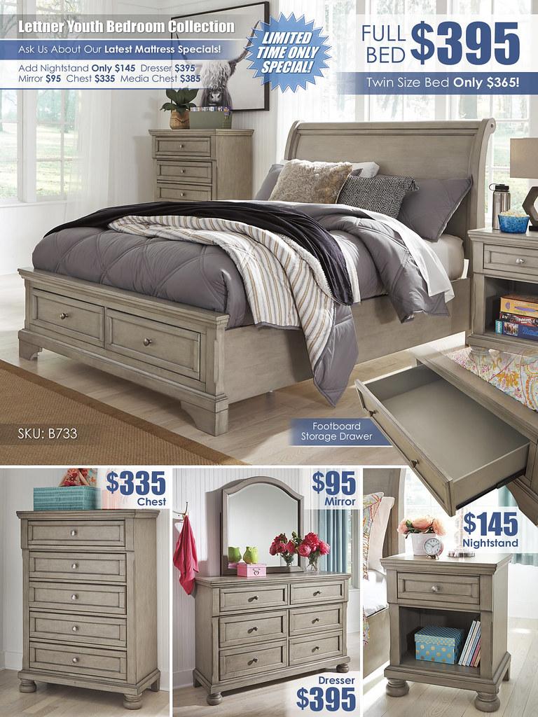 Lettner Youth Bedroom A La Carte_Layout_B733-53-MOOD-V_FullBed_Update