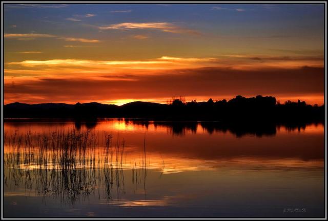 La luz dibujando siluetas en el paisaje