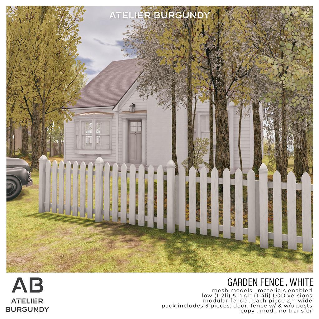 Atelier Burgundy . Garden Fence White