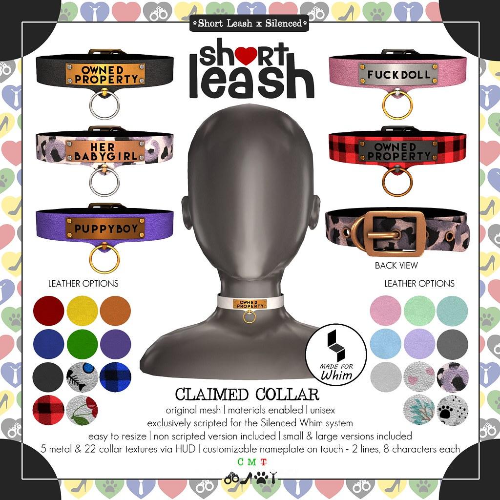 .:Short Leash:. Claimed Collar
