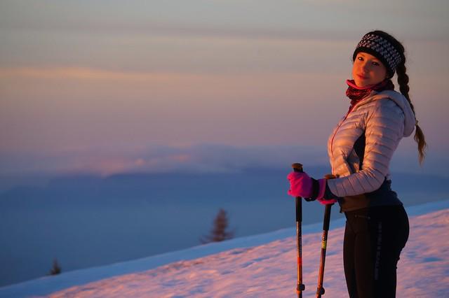 Al tramonto d'inverno