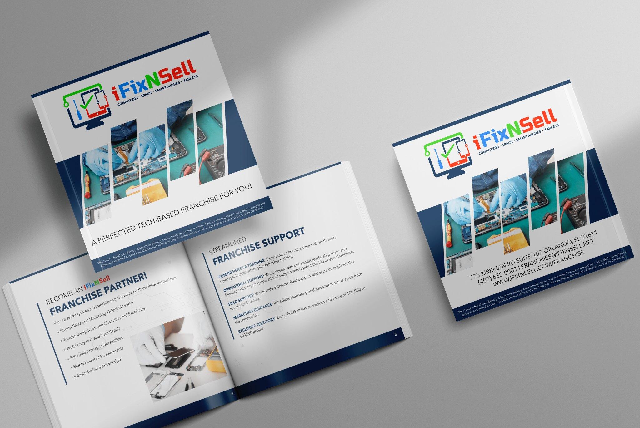 iFixNSell Bifold Brochure Design Tuyen Chau