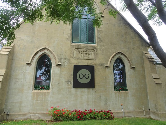 Queenscliffe. The cement rendered Wesleyan Methodist Church built in 1868. Now an art gallery.