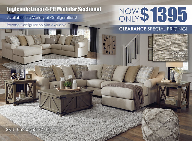 Ingleside Linen 4-PC Modular Sectional_85203-55-77-34-17-T457