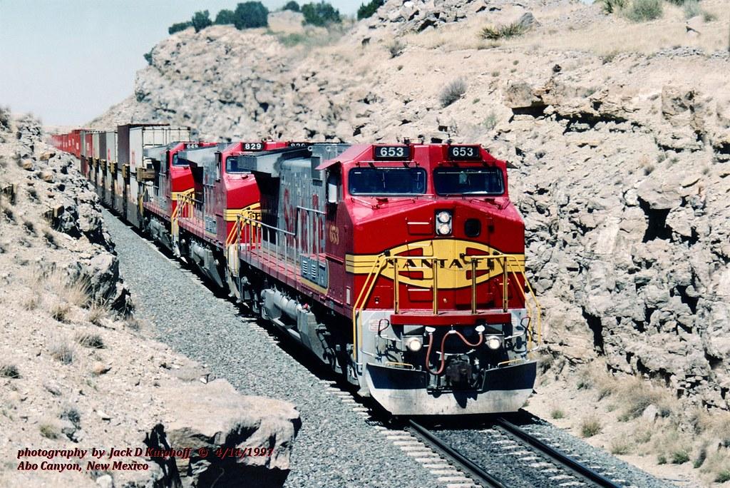 .(SEE & HEAR)---ATSF 653-829-649, W, Abo Canyon, NM. 4-14-1997