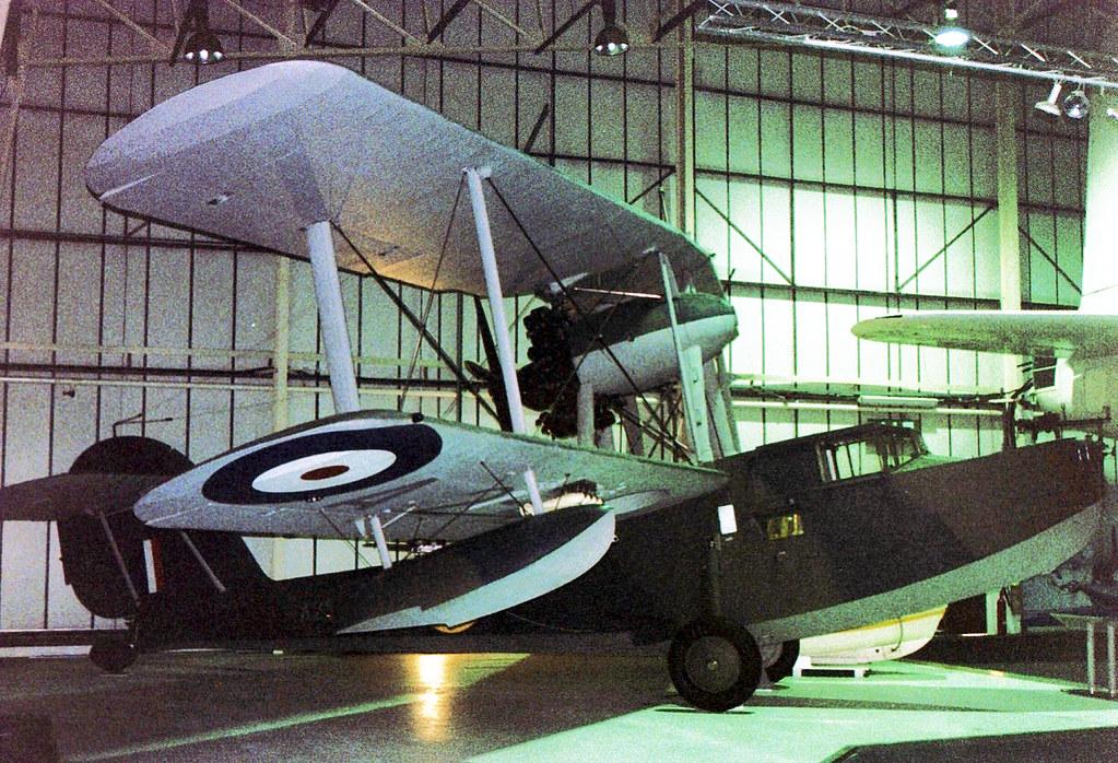 A2-4 (VH-ALB) 1935 Supermarine Seagull V RAN RAF Hendon 11.03.04