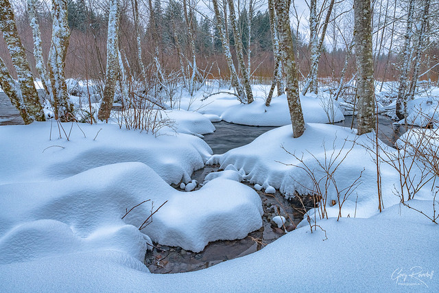 Snowy Sandy River