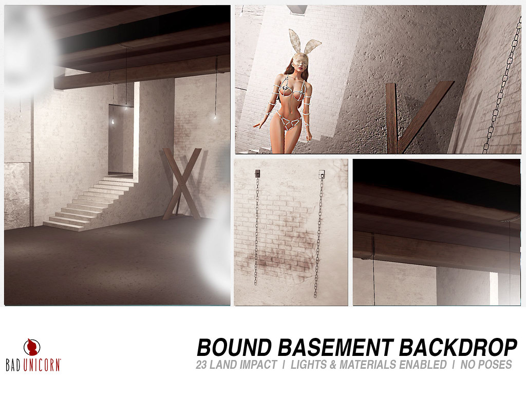 NEW! Bound Basement Backdrop @ Kustom9