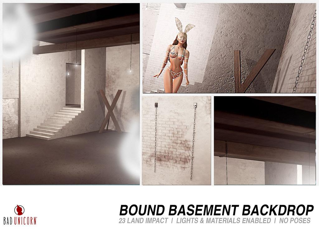 NEW! Bound Basement Backdrop @ Kustom9