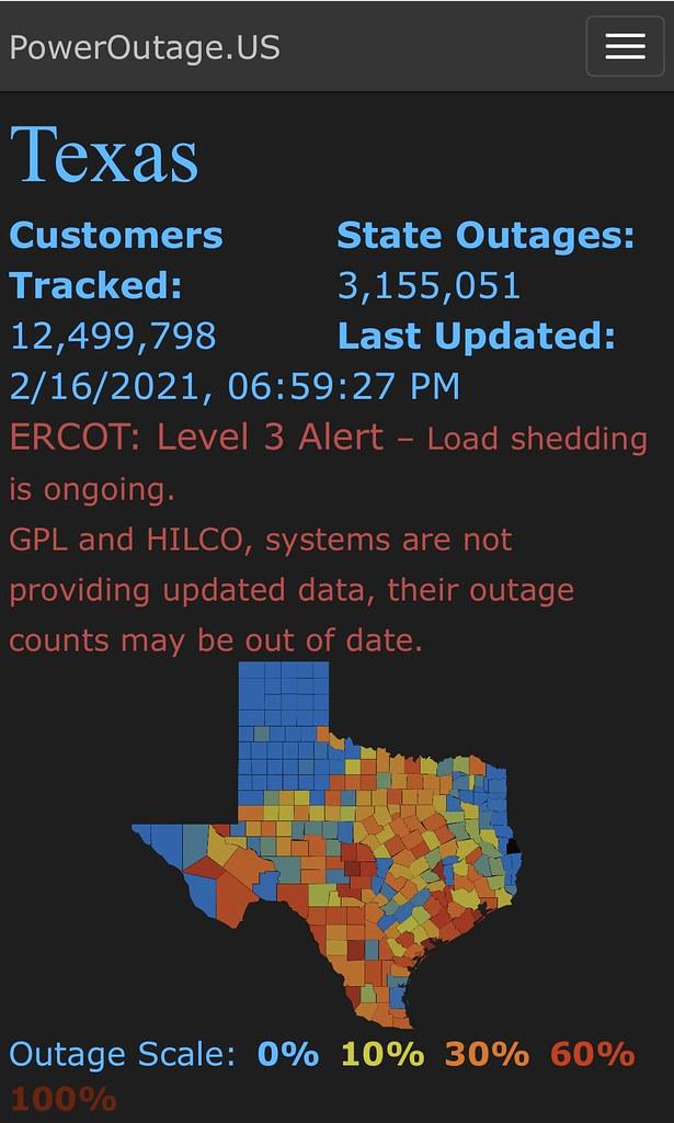 Texas Power Outage  - https://poweroutage.us/area/state/texas