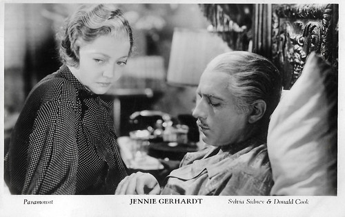 Sylvia Sidney and Donald Cook in Jennie Gerhardt (1933)
