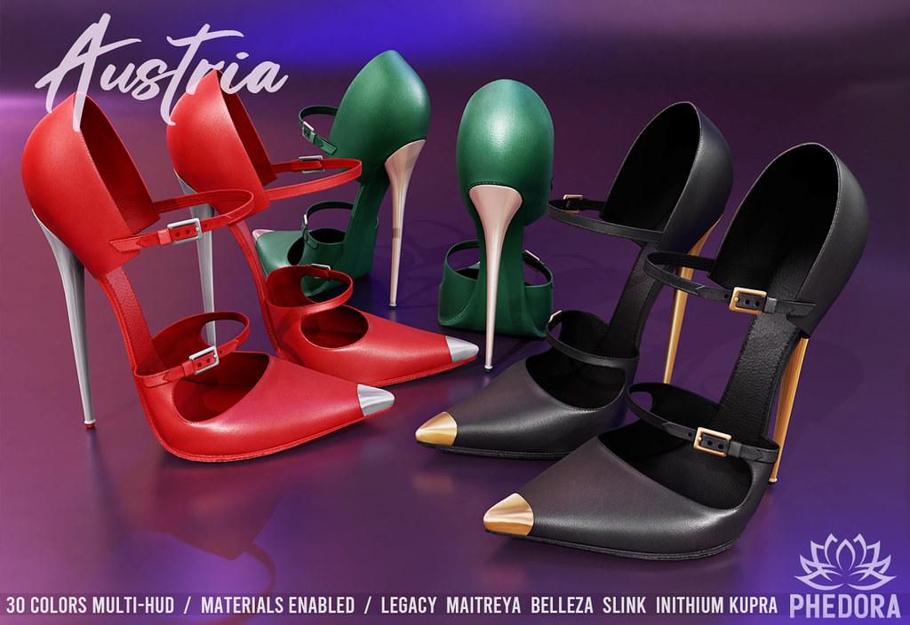 Phedora ~ Austria Heels 30 colors fatpack