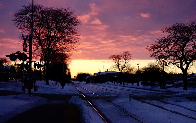 In Hinsdale, down the BNSF tracks. Just after I had rolled into a snowdrift...