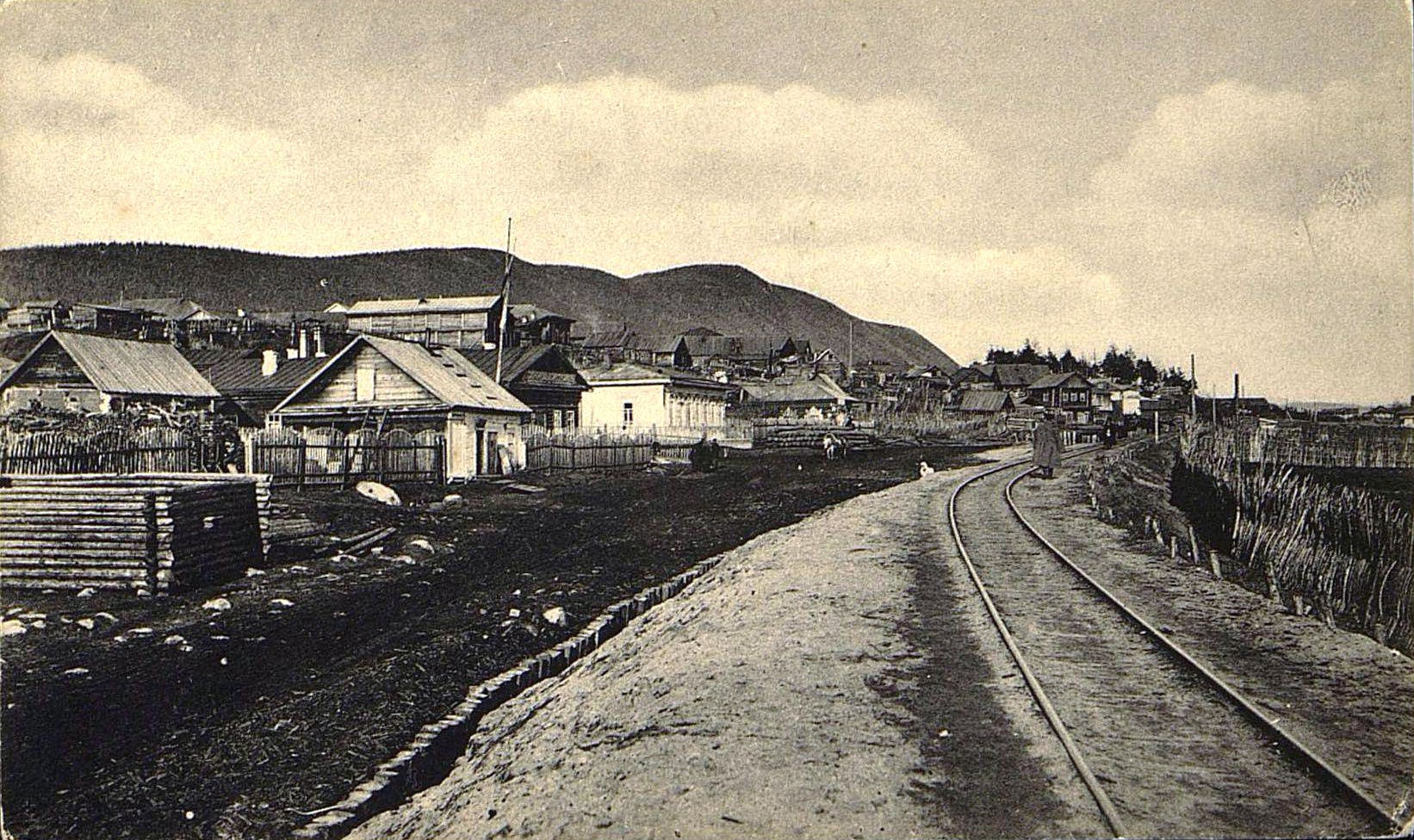 35. Вид на город с железной дороги