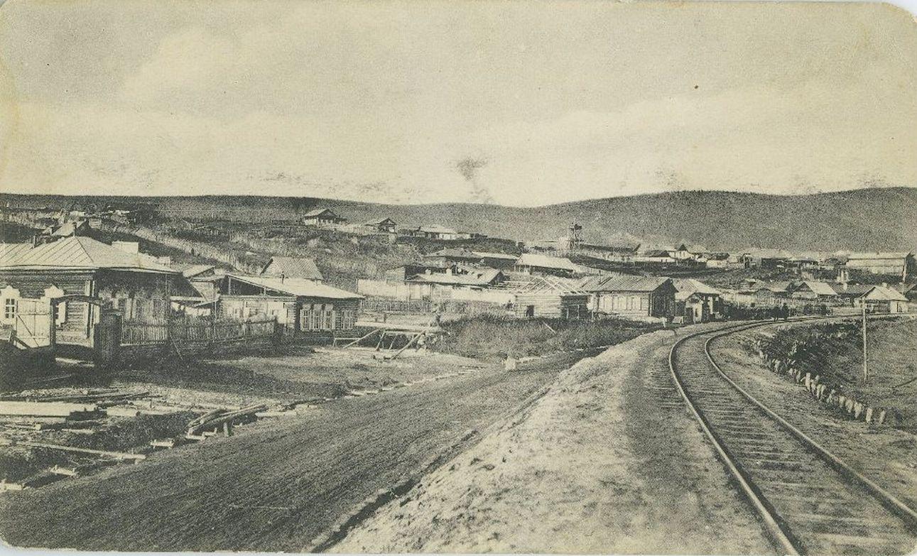 34. Вид на город с железной дороги