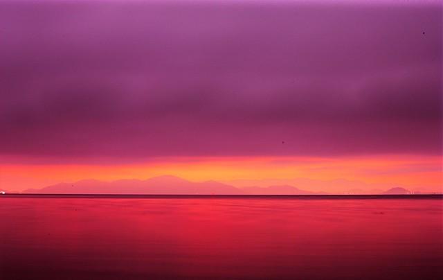 before sunrise, biwa lake,shiga pref.japan
