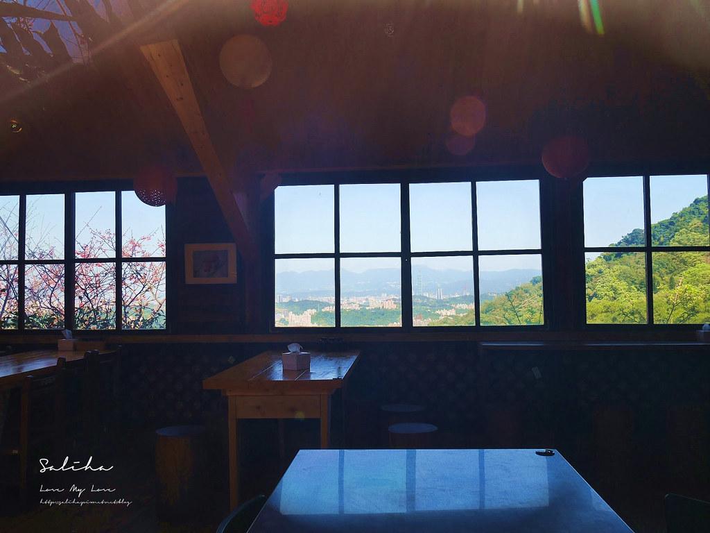 新店景觀餐廳看櫻花風景好騰龍御櫻 披薩咖啡廳下午茶輕食賞櫻踏青 (1)