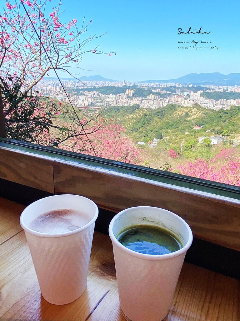 台北景觀餐廳推薦騰龍御櫻賞櫻花大片櫻花林可看101景色優美咖啡廳 (1)