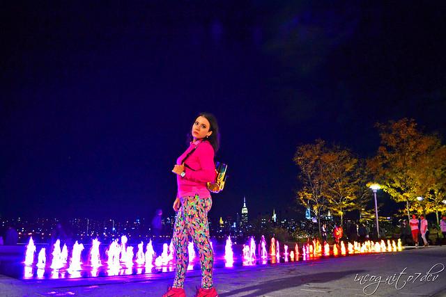 Me, Domino Park & Midtown Manhattan View at Night Williamsburg Brooklyn New York City NY P00806 DSC_0545
