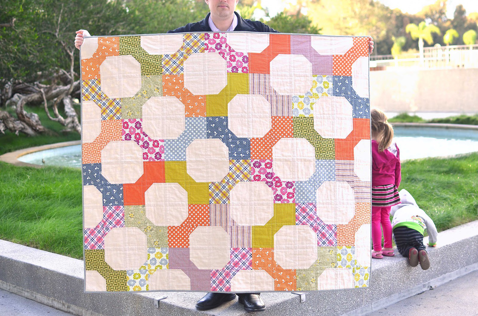 Denyse Schmidt Bow Tie Quilt - Kitchen Table Quilting