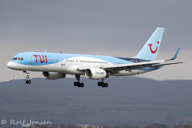 G-BYAY Boeing 757-200 TUI Glasgow Airport EGPF 24.03-20
