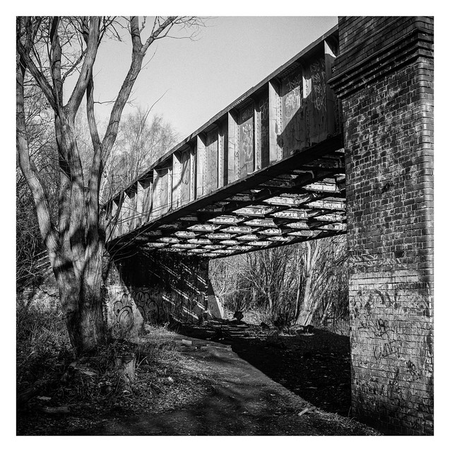 Beside a disused bridge
