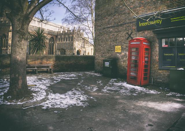 Leaning Phone Box