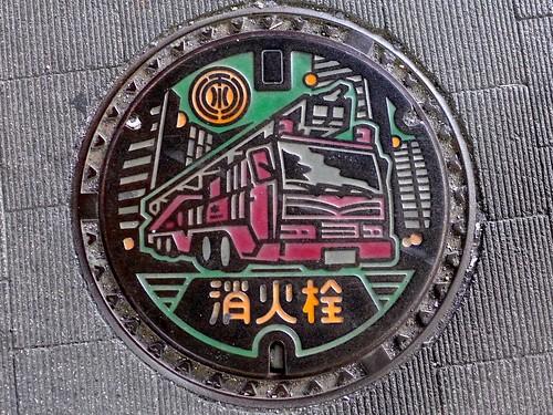 Matsudo Chiba, manhole cover 3 (千葉県松戸市のマンホール3)