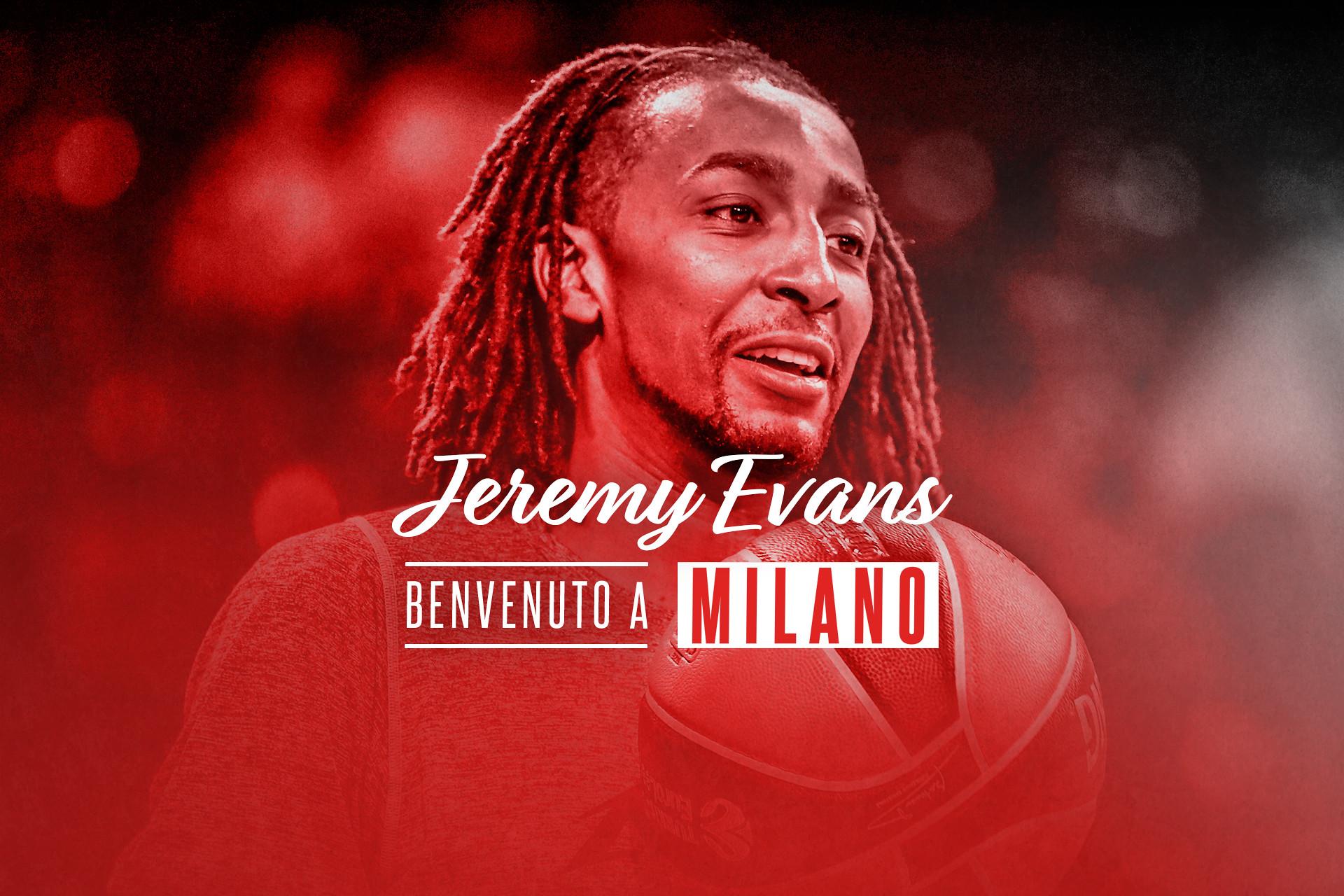 L'Olimpia Milano annuncia la firma di Jeremy Evans