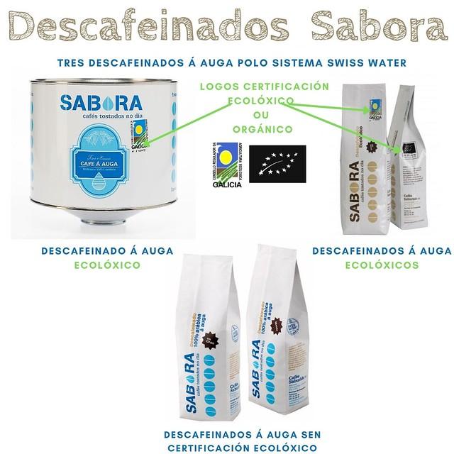 Cafés Sabora Descafeinados á Auga