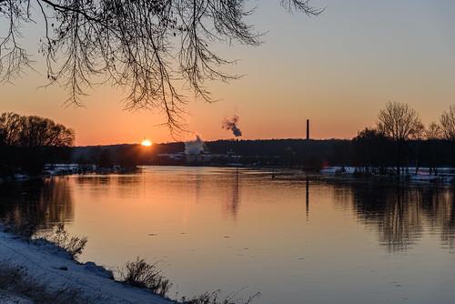 nikon d750 sunset sonnenuntergang weser fluss river goldenhour mindenlübbecke nrw ostwestfalen germany deutschland