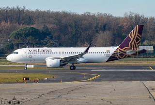 F-WWBH / VT-TQD Airbus A320-251N Vistara s/n 10355 - First flight * Toulouse Blagnac 2021 *