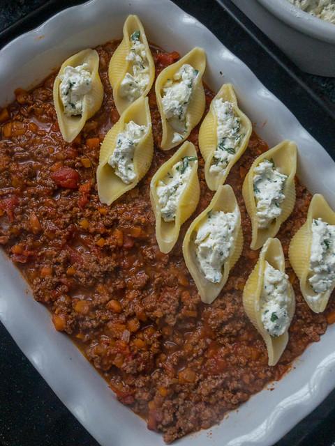 pâtes farcies sauce bolognaise 2