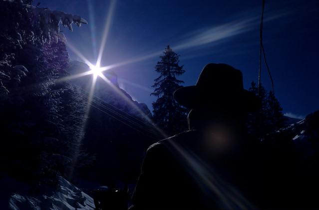 Dark Rider  (Rollei 35SE / Ektachrome)