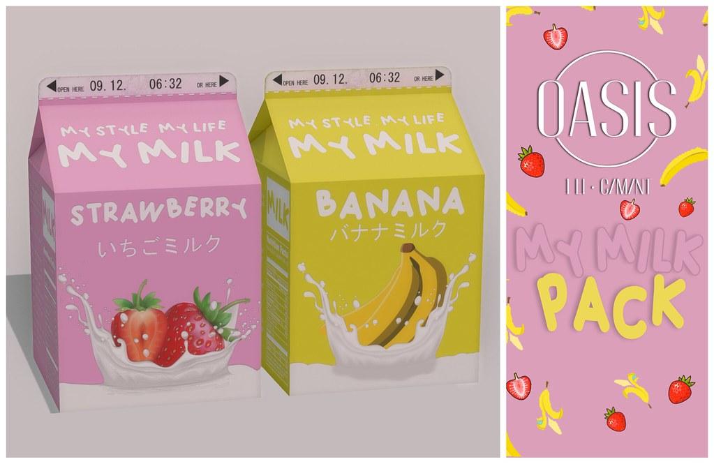 """Oasis: """"My Milk"""" Pack"""