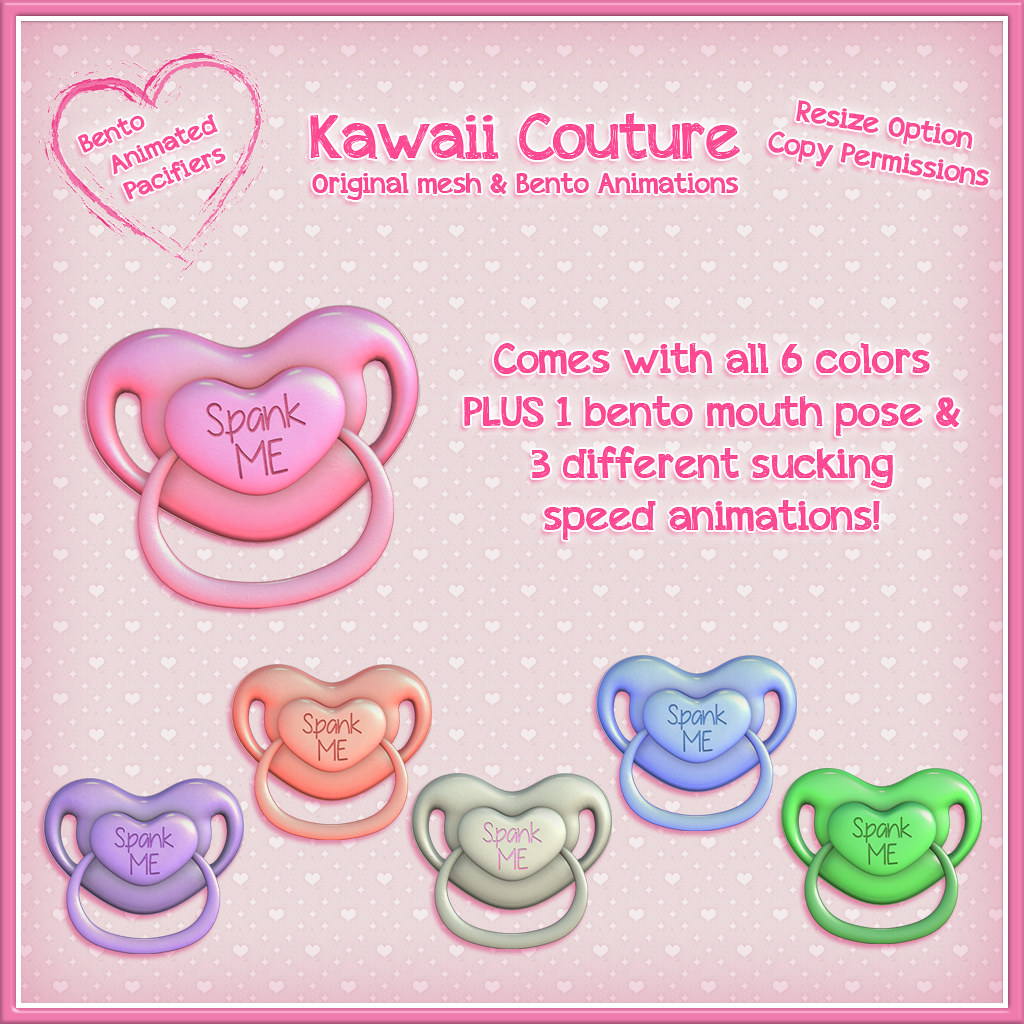 Kawaii Couture – Love Sucks Pacifier Spank Me Ad