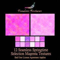 TT 12 Seamless Springtime Selection Magenta Timeless Textures