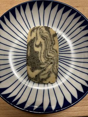 Marbled tahini shortbread