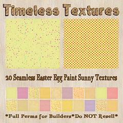 TT 20 Seamless Easter Egg Paint Sunny Timeless Textures