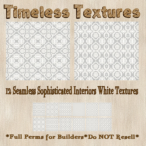 TT 12 Seamless Sophisticated Interiors White Timeless Textures