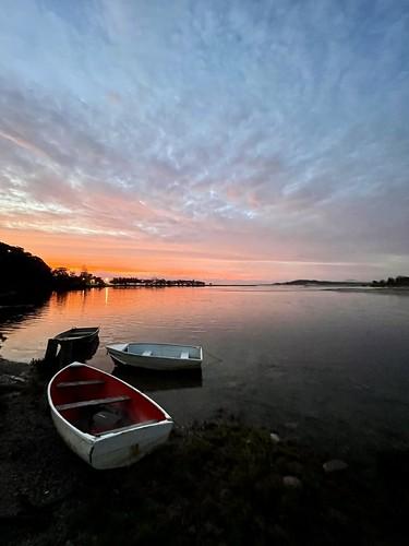 sky river clouds boats sunrise nambuccaheads