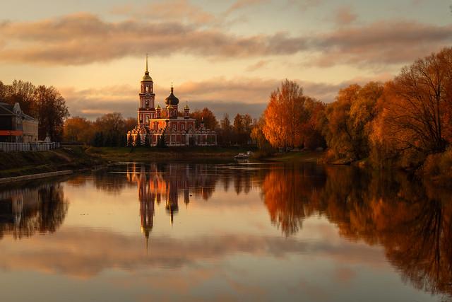 Autumn Morning in Staraya Russa