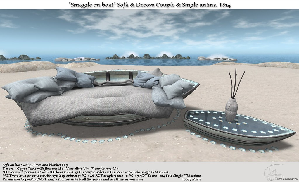 ".:Tm:.Creation ""Snuggle on boat"" Sofa & Decors TS14"