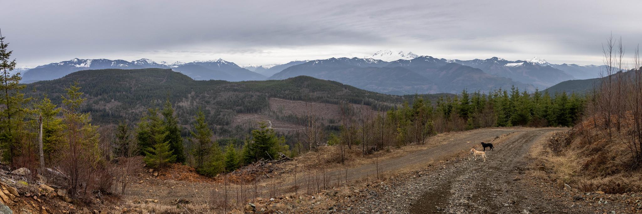 Western panoramic view below Sumas Mountain