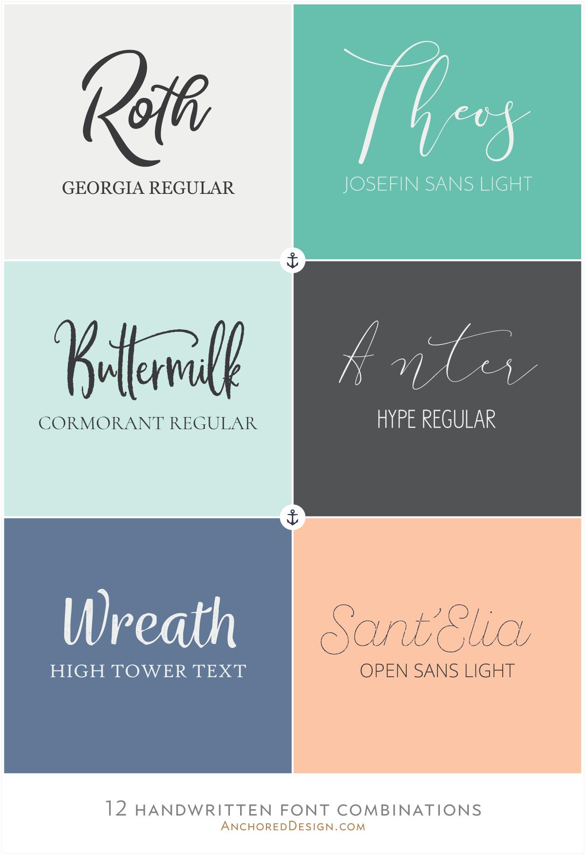 Kombinasi Font Unik