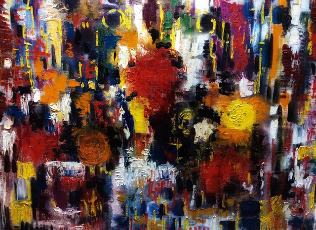 Abstract painting - oil on canvas